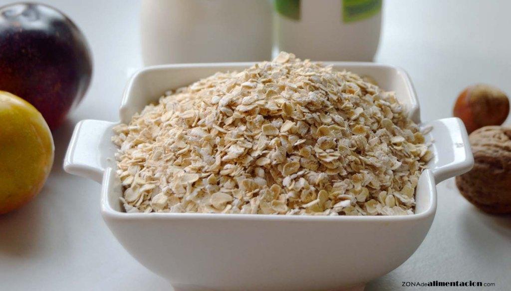 calorías, índice glucémico y valor nutritivo o nutricional y propiedades de la avena