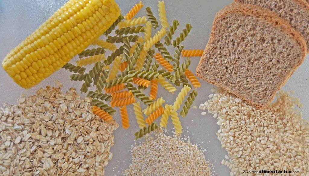 calorías, índice glucémico y valor nutritivo o nutricional y propiedades de los cereales