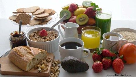 Bodegón desayuno saludable