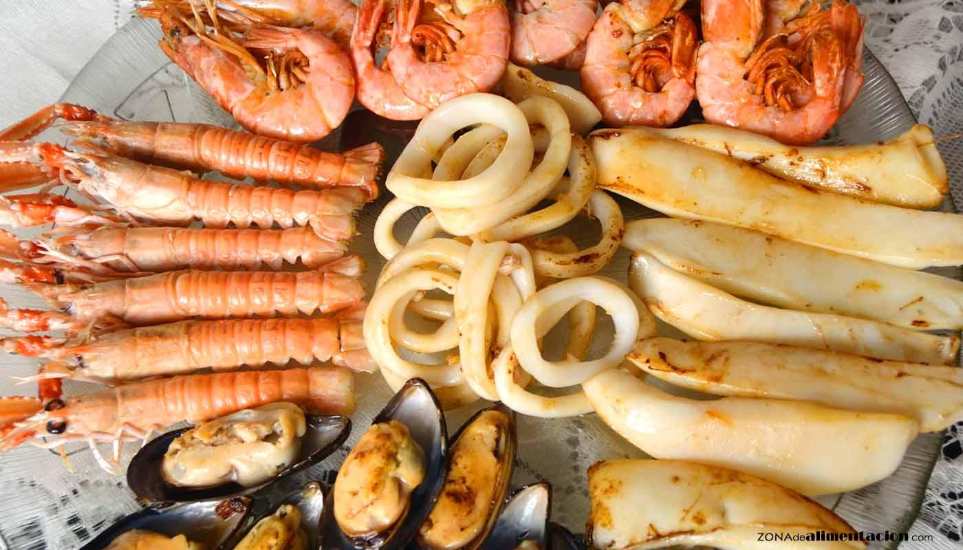 Mariscos: calorías, índice glucémico y valor nutritivo