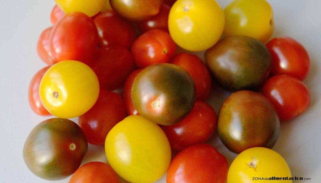 calorías, índice glucémico y valor nutritivo o nutricional y propiedades de los tomates
