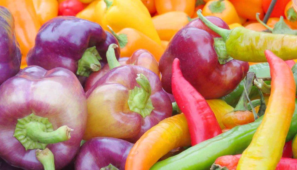 calorías, índice glucémico y valor nutritivo o nutricional y propiedades de los pimientos